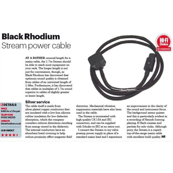 Black Rhodium Stream Power Block hálózati tápkábel + elosztó (EU változat)