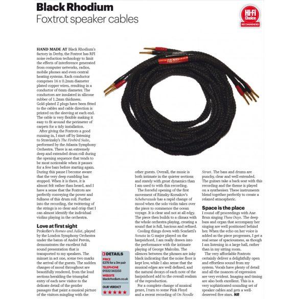Black Rhodium Foxtrot hangfalkábel