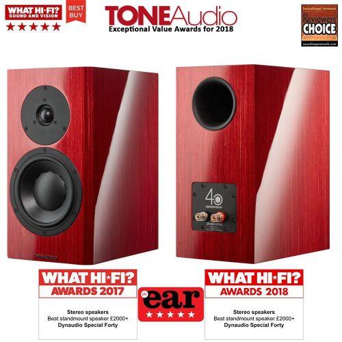 Dynaudio Special Forty High End állványos hangfal - Red Birch/Black - Demo
