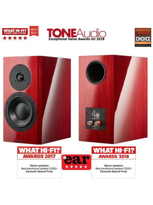 Dynaudio Special Forty High End állványos hangfal - Red Birch/Black - Demo