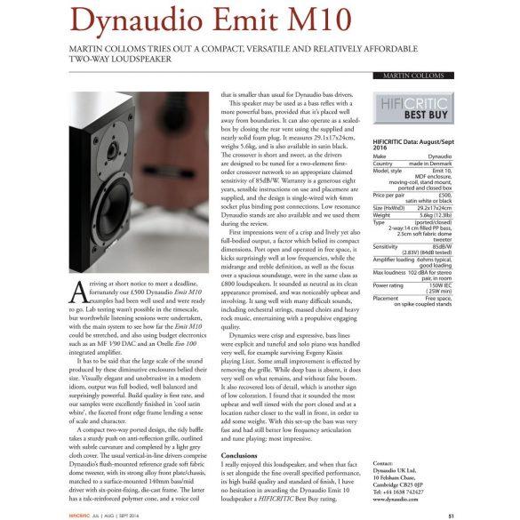 Dynaudio Emit M10 hangfal - Satin White
