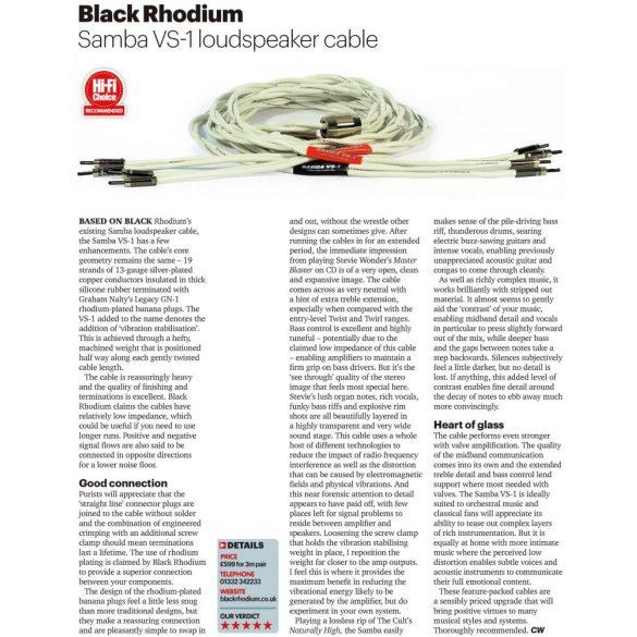 Black Rhodium Samba VS1 hangfalkábel