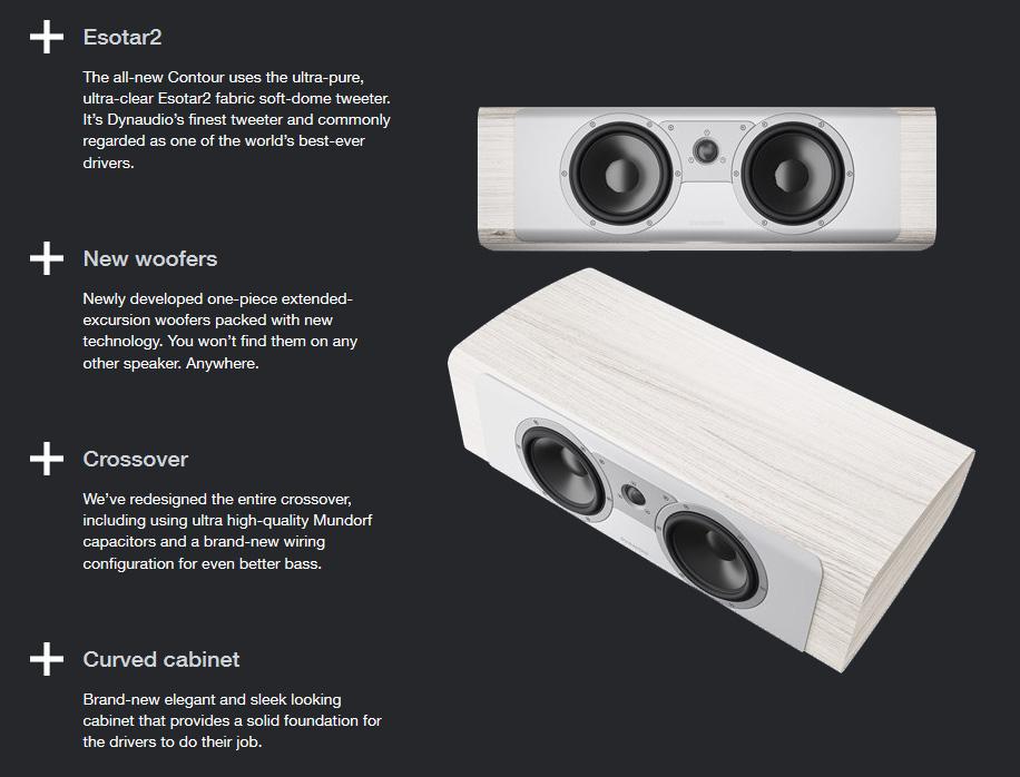 Dynaudio Contour 25C center hangsugárzó az ÚJ Dynaudio Contour hangfal család center hangsugárzója, mely high-end minőségben szólaltatja meg kedvenc tartalmait, forrástól függetlenül.