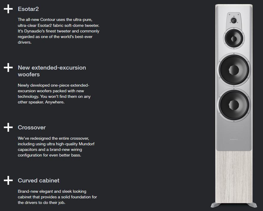 Dynaudio Contour 60 hangfal az ÚJ Dynaudio Contour hangfal család nagyobb álló hangsugárzója, mely high-end minőségben szólaltatja meg kedvenc tartalmait, forrástól függetlenül.